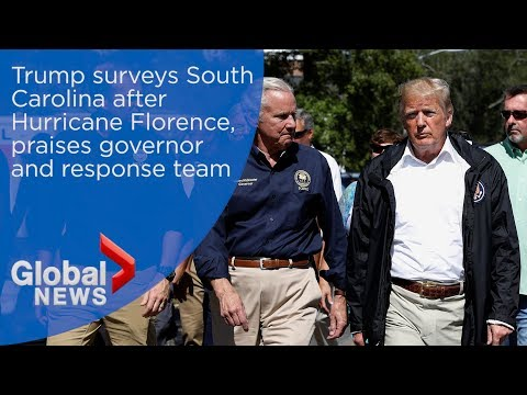 President Donald Trump surveys South Carolina following Hurricane Florence