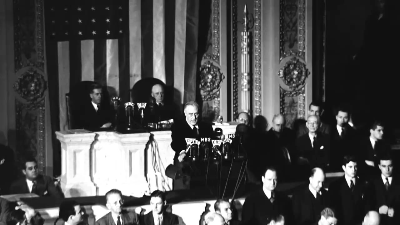 FDR's Day of Infamy Speech (December 8, 1941) - YouTube