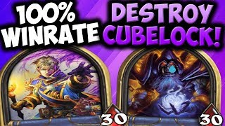 OTK PRIEST DESTROYS CUBELOCK! | OTK PRIEST | THE WITCHWOOD | HEARTHSTONE | DISGUISED TOAST