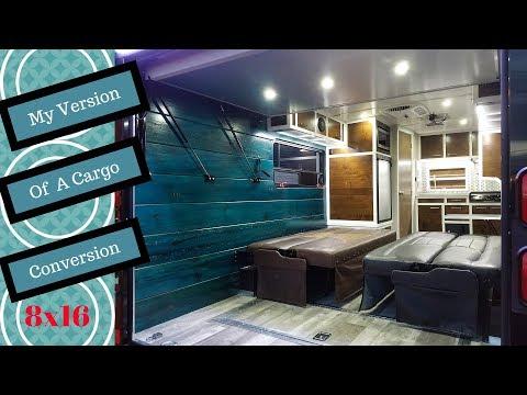 Cargo trailer to camper conversion