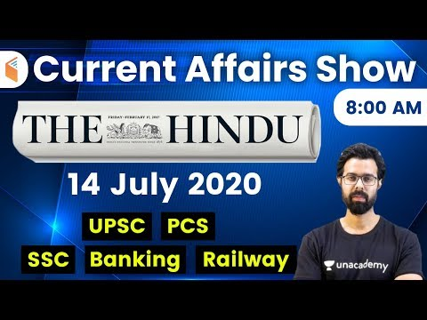 8:00 AM - Daily Current Affairs 2020 by Bhunesh Sir | 14 July 2020 | wifistudy