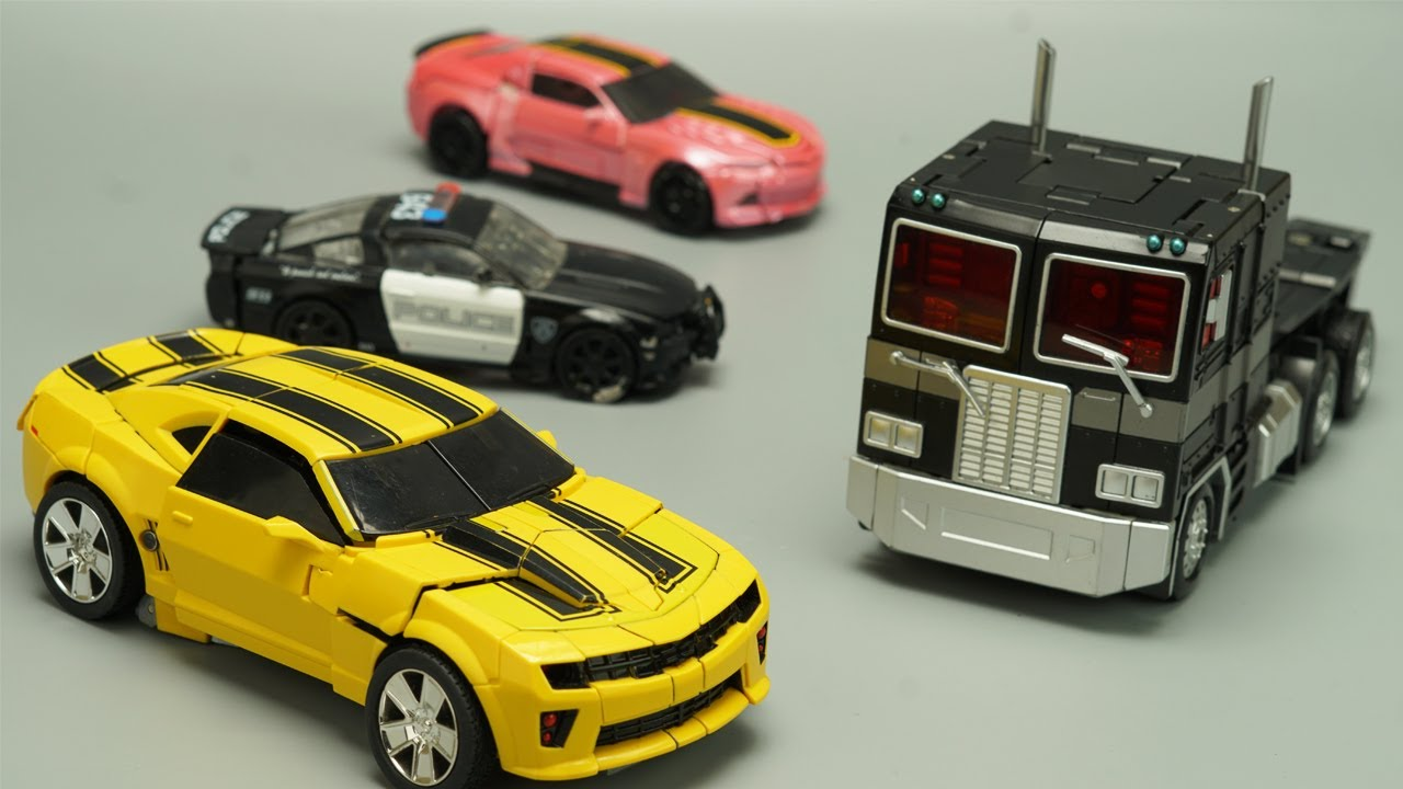 Transformers Animation & Stop Motion Barricade, Bumblebeee, Optimus generation Robot Movie!