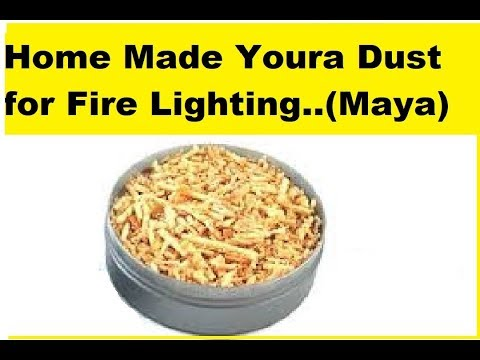 Home Made Youra (Maya) Dust for Prepping, Bush Craft and Camping