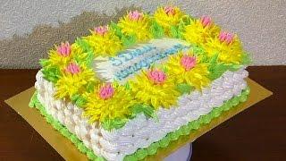 видео как сделать торт корзина с цветами