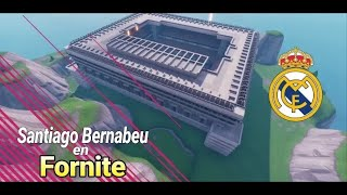 Building real-team stadium Fortnite creative mode
