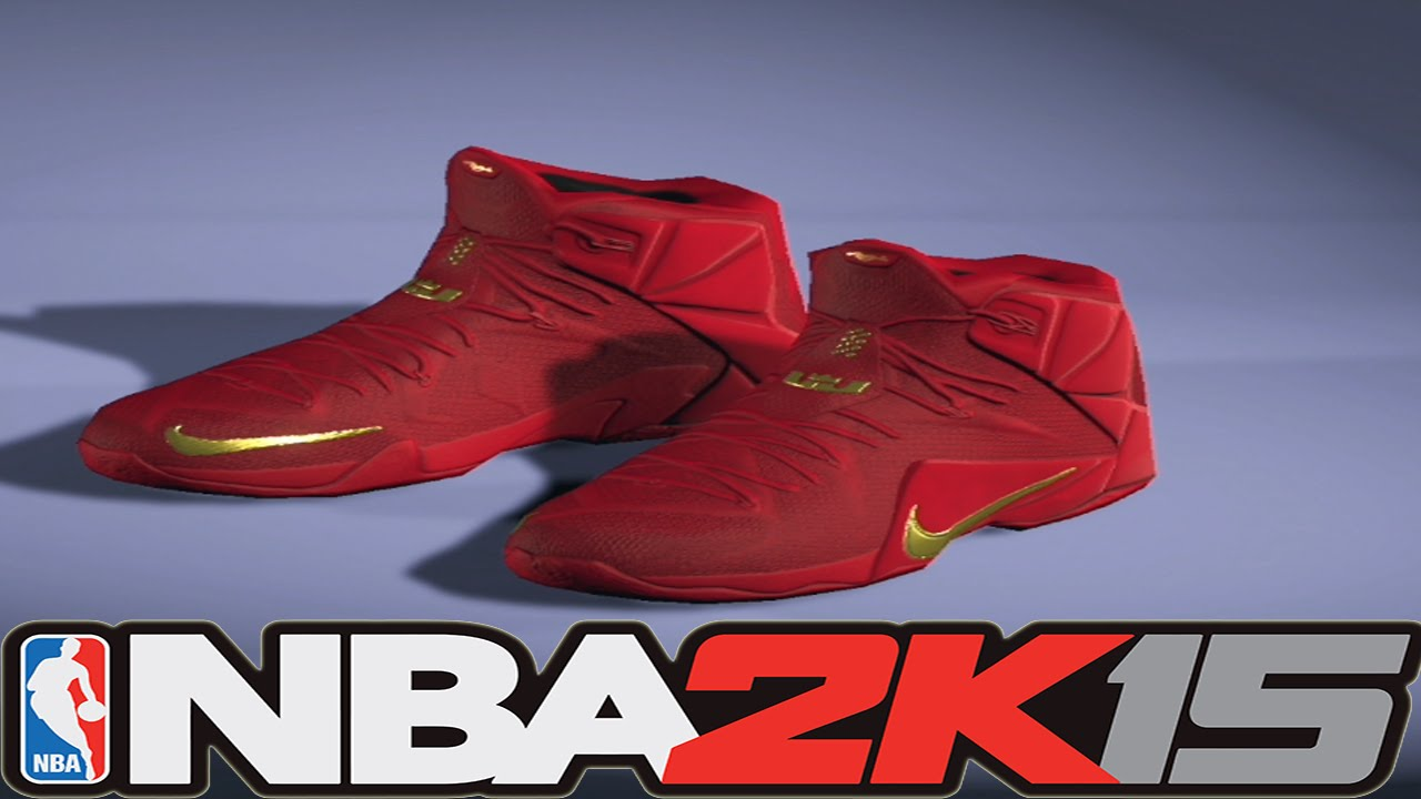 5f00c1e10417 NBA 2K15 Shoe Creator - Nike LeBron 12 Red Rubber City ⋆ NBA2K15 ...