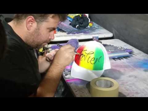 Surfers Paradise - Gold Coast Beautiful Custom Graffiti Cap By Talented Artist! Nov 2016