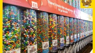 A LOT OF CANDY! A lot of M&M`s candy Learning colors with candies. Candy for kids. Candy review