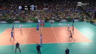 [Volleyball] Ivan Zaytsev of Italy kills USA with 4 aces in a row #quattrolavatrici