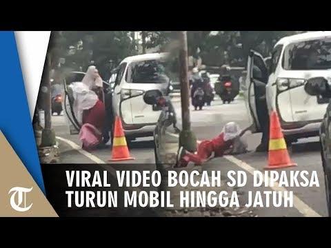 Video Bocah SD Dipaksa Keluar Dari Mobil Dan Didorong Hingga Tengkurap Saat Mencoba Menahan Pintu