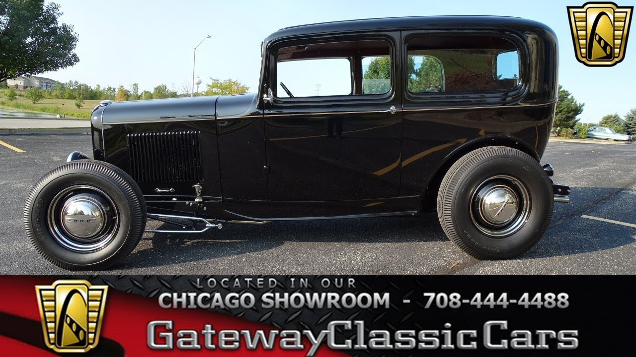 1932 Ford Tudor Sedan Gateway Classic Cars Chicago #1275 - YouTube