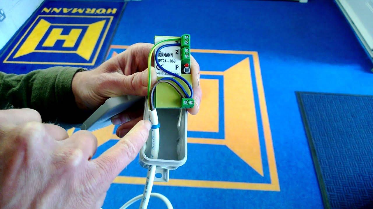 Schemi Elettrici Hormann : How to wire the hormann het24 868.3 mhz receiver youtube