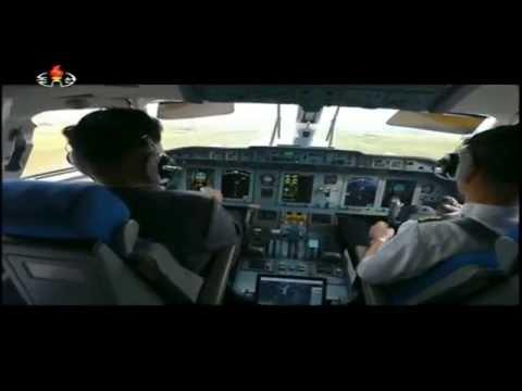 Kim Jong Un is flying a plane