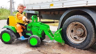 Grappige verhalen over hoe Dima de vrachtwagens hielp
