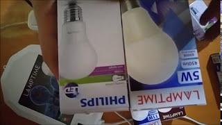 Lamptime vs Philips YENİ NESİL LED AMPUL LAMBA İNCELEME GERÇEK TÜKETİMLER Ürünler.
