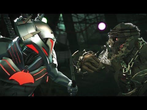 Injustice 2 : Black Manta Vs Scarecrow - All Intro/Outro, Clash Dialogues, Super Moves