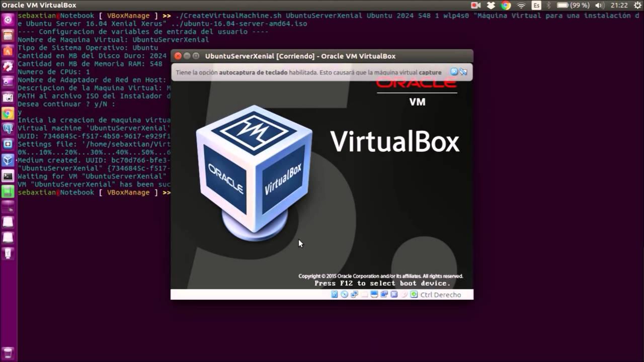 VirtualBox desde Línea de Comandos Linux Ubuntu mediante la herramienta VBoxManage