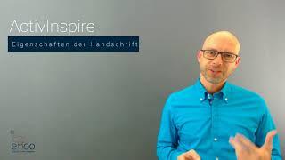 ActivInspire - Eigenschaften der Handschrift
