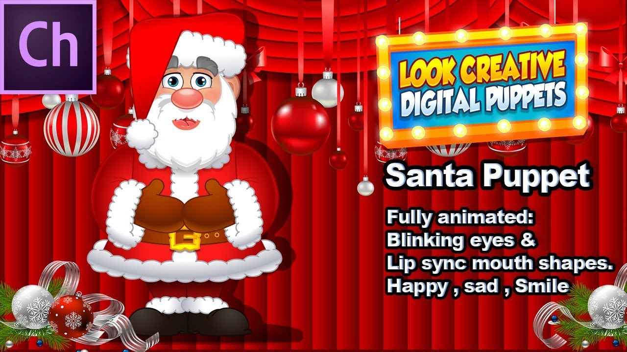 Adobe Character Animator Digital Puppet: Santa Claus Father ...