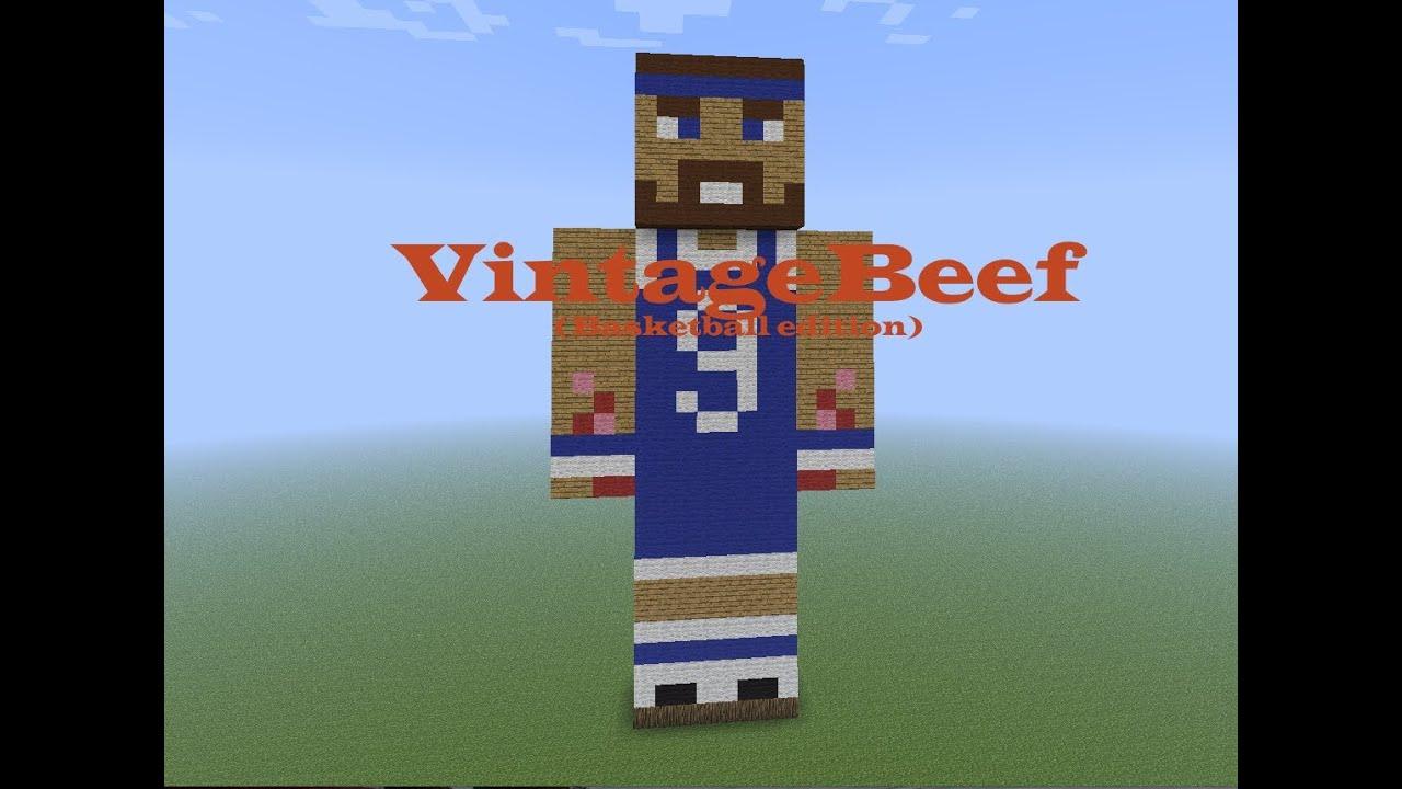 Minecraft Statue Speedart - VintageBeef (Basketball Edition) - * 5 likes = another video like this!
