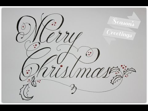 how to write merry christmas in cursive and fancy