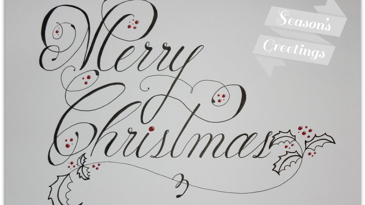 Merry Christmas Calligraphy.How To Write Merry Christmas In Cursive And Fancy