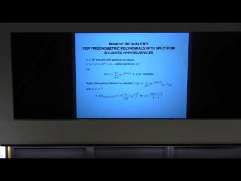 Jean Bourgain - Decoupling in harmonic analysis and applicat
