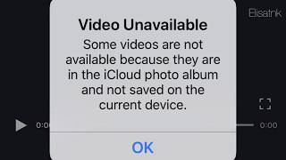How to Fix Video Unavailable.... and not saved on the current device...  (2019)