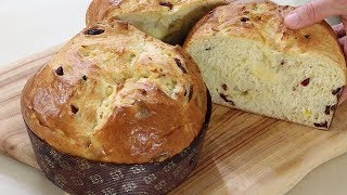How to make panettone/very delicious  panettone recipe 파네토네 크리스마빵 정말 맛있게 만드는 법