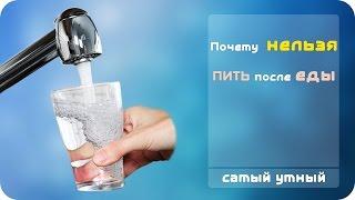 Почему нельзя пить воду во время еды?