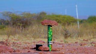 देखिये 10 किलो का पथार इस बम से कितना ऊपर जायेगा या चकना चूर हो जायेगा