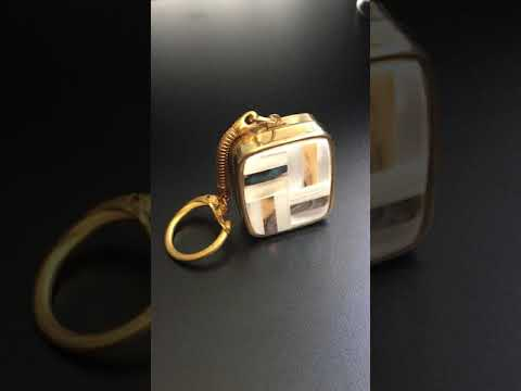 Vintage 1960's Sankyo Music Box Keychain - What Tune Is This?