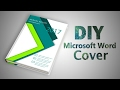 How to make a Professional Cover Page in Microsoft Word 2016 ✔