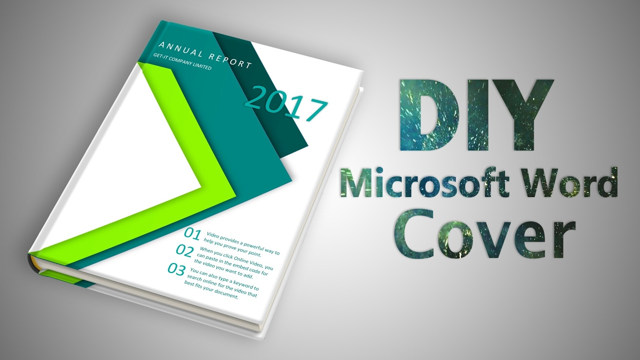 How to make a Professional Cover Page in Microsoft Word 2016 ...