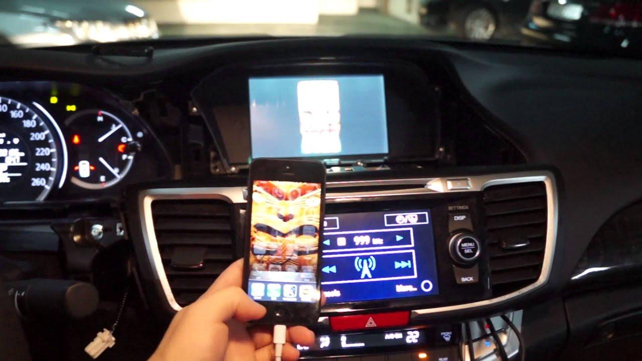 Honda Accord Mirror Link Iphone5