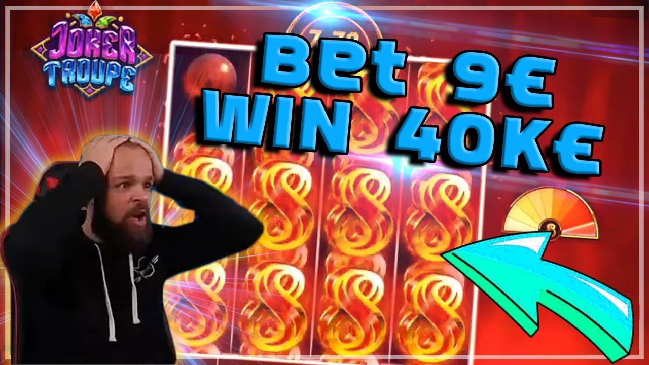 ClassyBeef HUGE WIN 4444X in Joker Troupe Slot \Top 5 biggest wins of the week