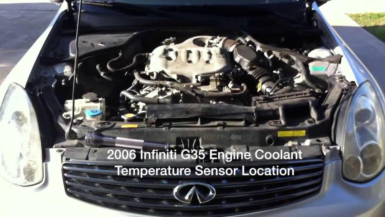 2006 Infiniti G35 Engine Coolant Temperature Sensor