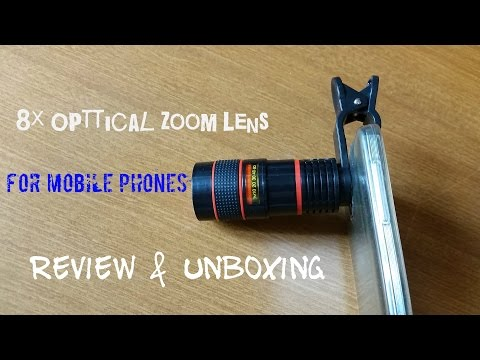 8x Optical Zoom Telescope Camera Lens [For Smartphone] Review & Unboxing