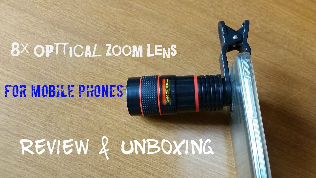8x Optical Zoom Telescope Camera Lens For Smartphone Review Lensa Tuk Hp Unboxing Youtube
