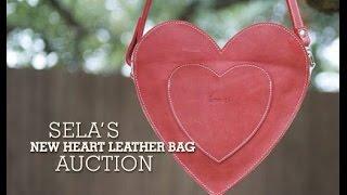 Sela's New Heart Shaped Leather Bag