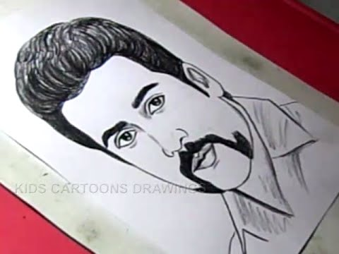 How to Draw tamil Film Actor SURYA Drawing For Kids