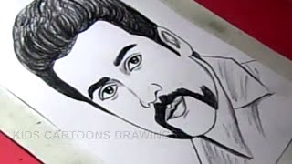 How To Draw Tamil Film Actor Surya Drawing Youtube