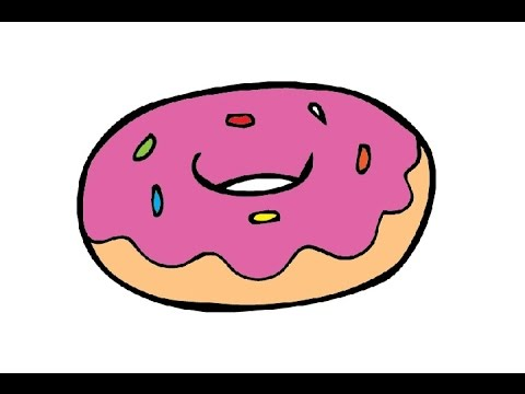 How To Draw A Donat Easy Step By Step как нарисовать донат Youtube
