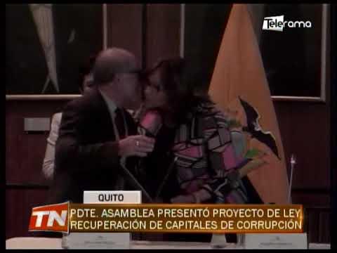 Pdte. asamblea presentó proyecto de ley recuperación de capitales de corrupción