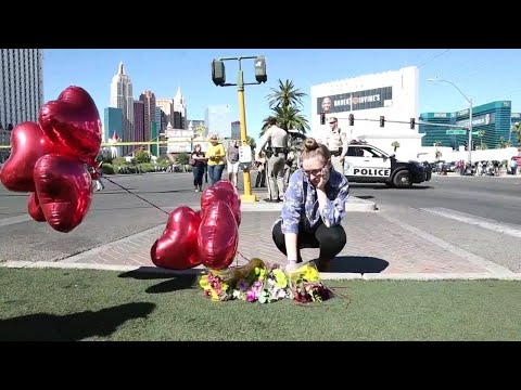 Memorial growing at site of Las Vegas mass shooting