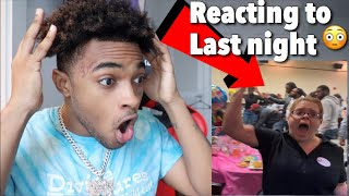I WAS IN A HUGE FIGHT LAST NIGHT *VIDEO REACTION*
