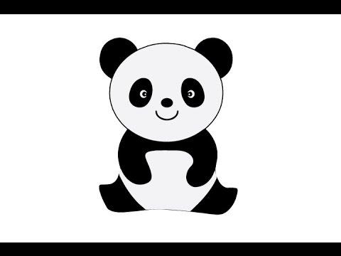 How to draw a cute panda easy step by step как нарисовать панду