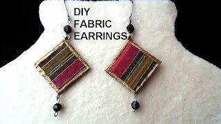Gambar cover DIY FABRIC EARRINGS - paper beads - Jewelry Making