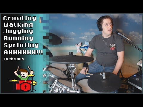 Running in the 90s But It Keeps Getting Faster On Drums! -- The8BitDrummer