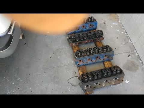 DIY Cylinder head cleaning mustang. Sbf sbc